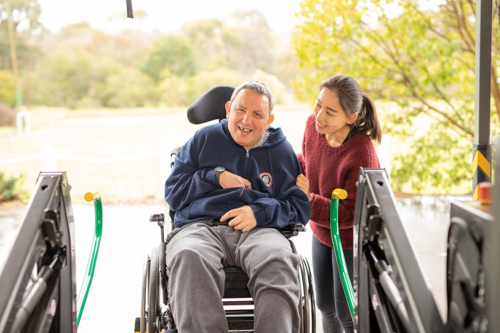 Aged Care Senior Transport Services Client and Carer
