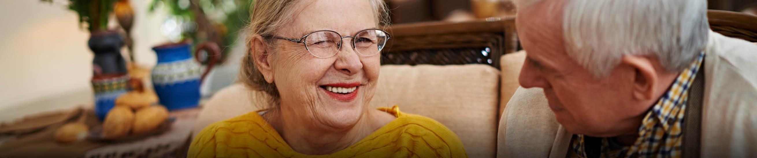 Older people smiling
